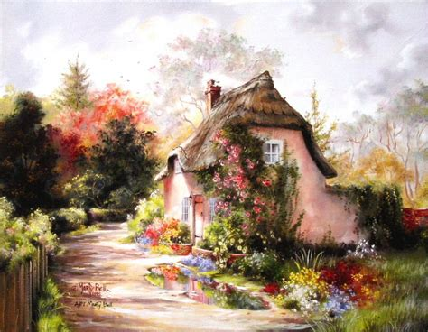 Bower Cottage by Bower Cottage Marty Bell Artist Proof A P Canvas 14x18
