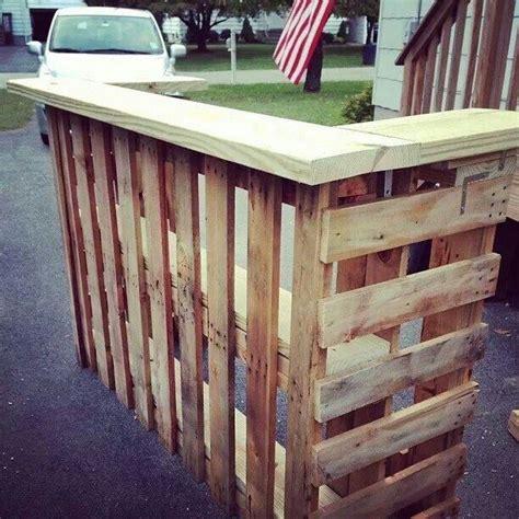 diy pallet bar diy pallet outdoor bar and stools the owner builder network