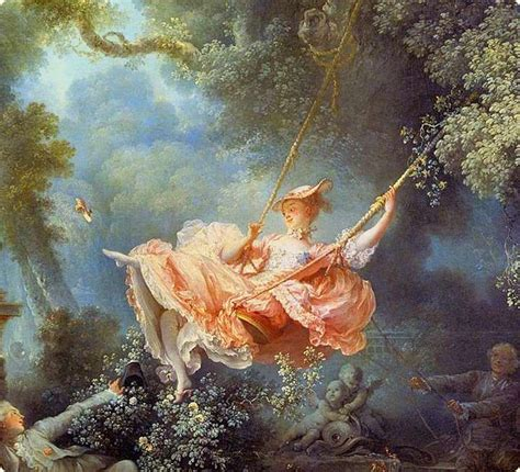 fragonard the swing 1767 let natured go on the gold scales