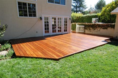 Backyard Deck Ideas Ground Level Ground Level Deck Plans Low Level Deck Decking Timber