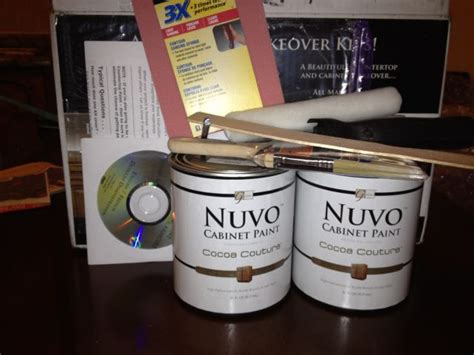 nuvo cabinet paint reviews nuvo cabinet paint cocoa couture kit nuvo