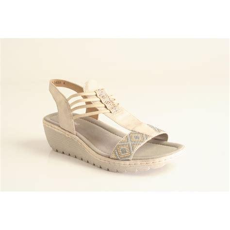 Sandal Platform Wedges Slop Gold rieker rieker pale gold platform wedge sandal rieker from nicholas thomson uk