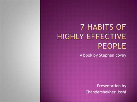 7 habits of highly effective book report 7 habits of highly effective