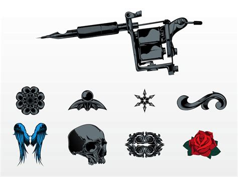 tattoo set machines vector images