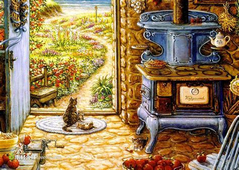 cat kitchen wallpaper 世界名画油画素材 素材公社 tooopen com