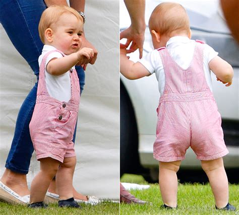 Prince George Wardrobe by Prince George Wears Petit Bateau Dungarees For