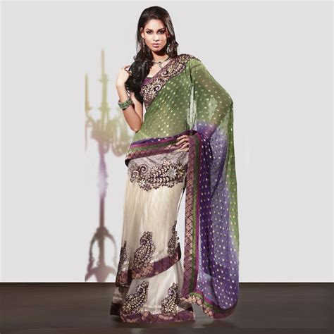 net saree draping style double drape style saree online shopping