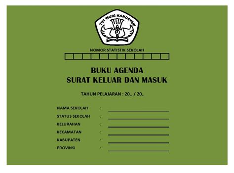 buku agenda surat keluar masuk sekolah dasar negeri 125543