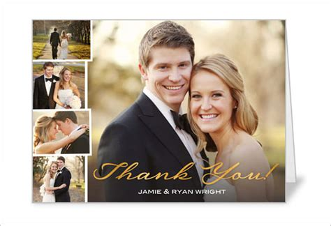 free wedding thank you card template with photo 21 wedding thank you cards free printable psd eps