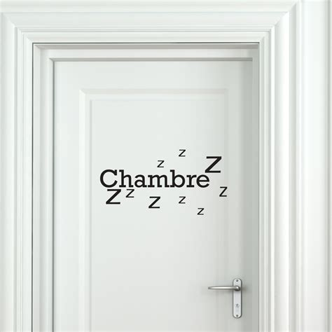 pr駭om pour porte de chambre sticker porte chambre zzz stickers chambre texte