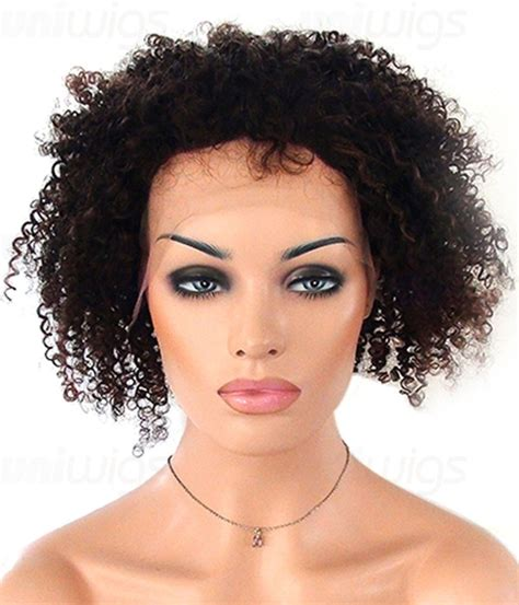 upgrade afro curl human hair lace wig uniwigs official 12 quot deneisha afro curl full lace wig medium indian remy