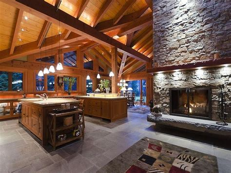 Open Floor Plans With Large Kitchens | ranch house ideas on pinterest western decor western