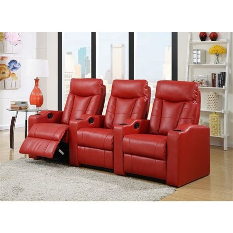 Home Theatre Decor Ideas Lyke Home Cabernet Red Bonded Theater Set Cabernet Red