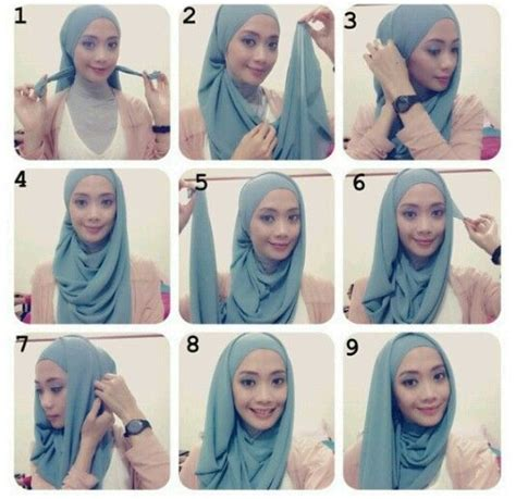 tutorial hijab pashmina modern simple 1000 images about tutorial hijab pesta on pinterest