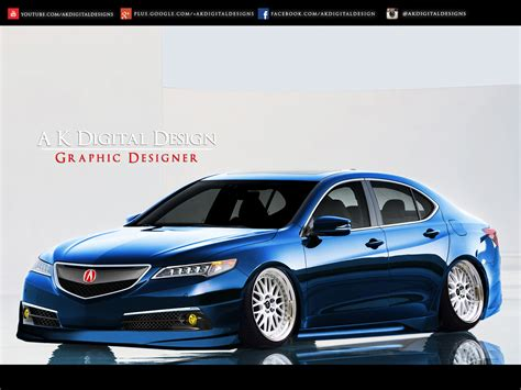 jdm acura tlx 2015 acura tlx modified blue by akdigitaldesigns on deviantart