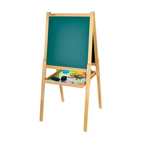 childrens easel kids easel chalk drawing board double sided age 3