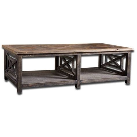 spiro fir wood cocktail table uttermost cocktail coffee