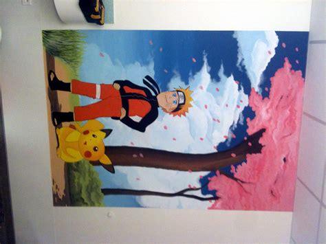 Supérieur Peinture De Mur Pour Chambre #2: PEINTURE+DECOR+MANGA+CHAMBRE+ENFANT+NARUTOO+PICACHOO+PEDIATRIE+HOPITAL+OLONNE+LES+SABLES+D+OLONNE.JPG