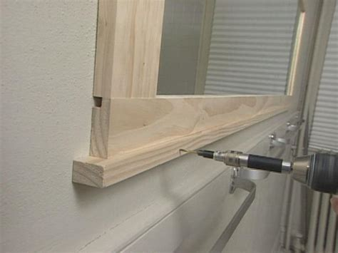 bathroom mirror with frame how to frame a bathroom mirror how tos diy