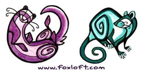 nouveau ferret and rat tattoos the foxloft
