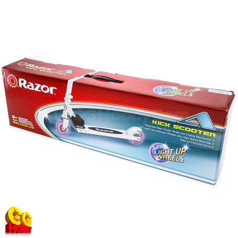 razor a scooter lighted wheel black razor a kick scooter black with light up wheels brand