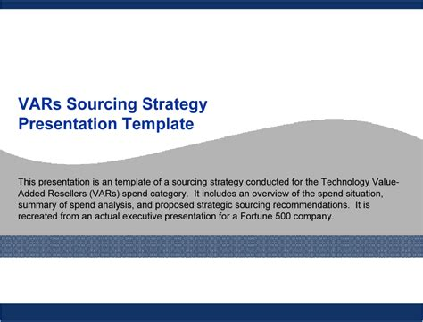 strategic sourcing plan template technology vars sourcing strategy template powerpoint