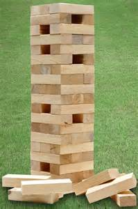 garden jenga tower connect 4 in a row
