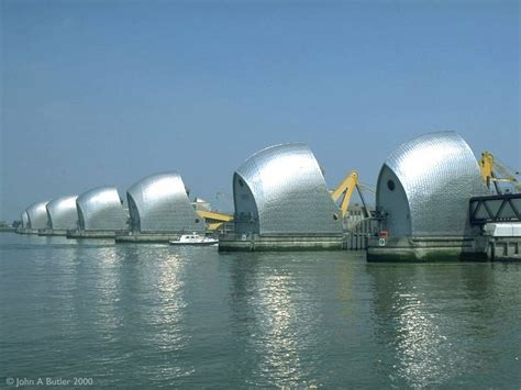 thames barrier from greenwich greenwich the thames flood barrier