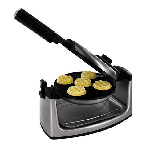 Waffle Maker Mini By smart planet mwm 1 mini flip waffle maker review