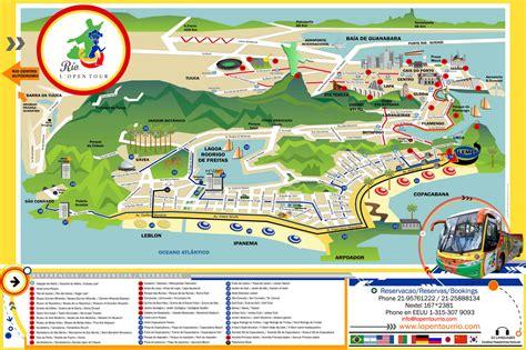 karten de touristischen karte de janeiro