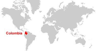 colombia map of the world colombia map and satellite image