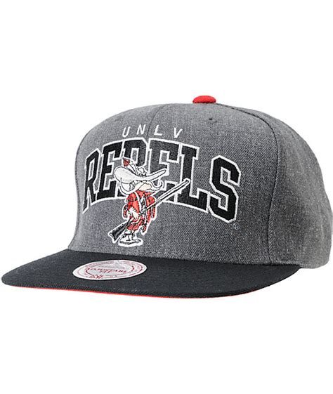 ncaa snapback hats c 8 ncaa mitchell and ness unlv rebels black grey snapback hat