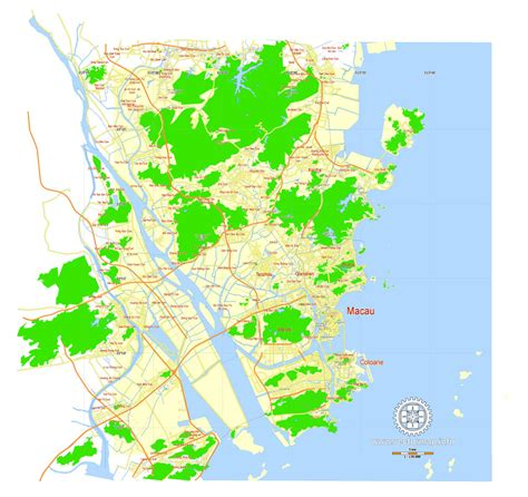 print maps macau china printable vector g view level 12 5