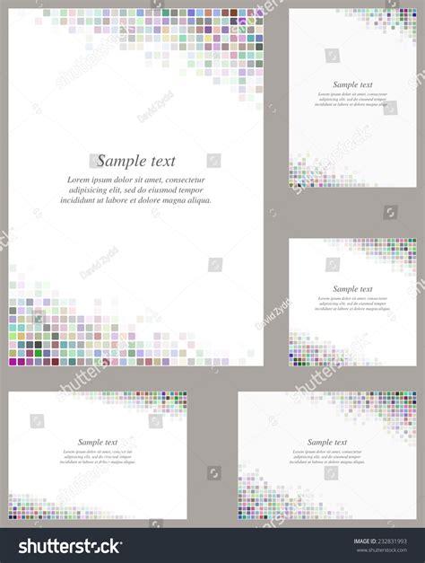 layout of paper presentation multicolor page corner design template invitation stock