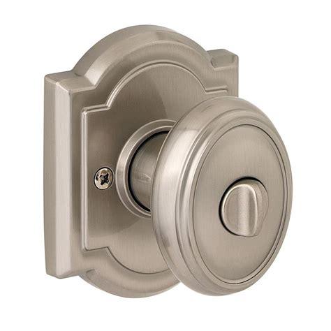 door knobs for bathrooms baldwin prestige carnaby satin nickel bed bath door knob