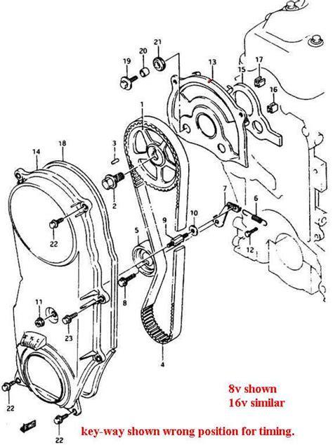 Cover Timing Suzuki Balenoasteem 16 Vitara Efi 16 valve 1 6 liter sidekick timing belt ves