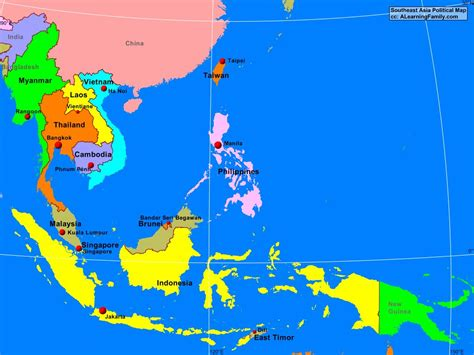 political map of southeast asia political map of southeast asia mexico map