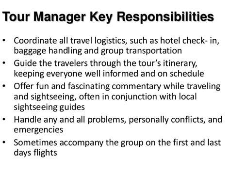 work description of tour guide sportstle com