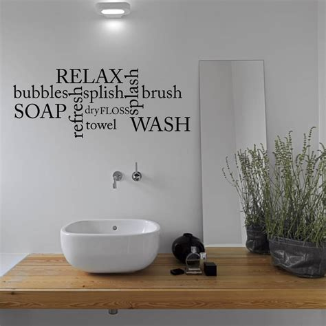 wall sticker bathroom bathroom word cloud wall sticker by mirrorin notonthehighstreet