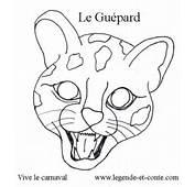 Coloriage Le Gu&233pard Masque De Carnaval  LEGENDE ET