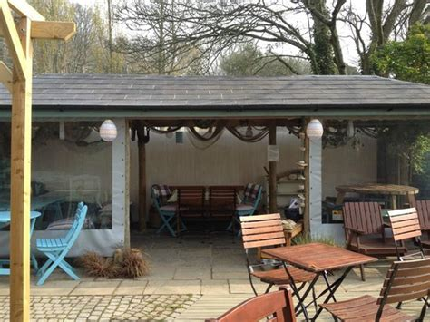 outdoor seating area with cover all outdoor seating but we a lovely undercover area