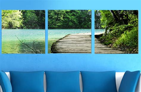 Scoopon Three Section Nature Canvas Wall Art Delivered