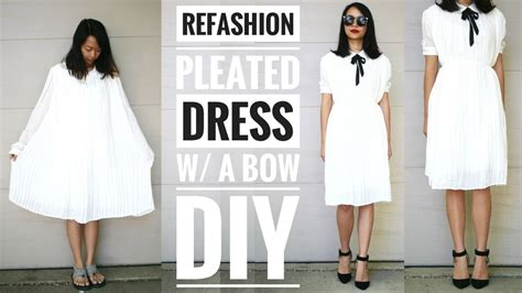 9 Tips On How To Dress On A Plane by Diy Pleated Dress W A Bow Refashion How To Upcycle