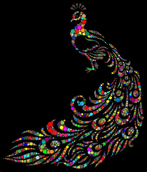 Clipart   Colorful Peacock Circles With Background