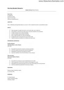 Exles Of Nursing Student Resumes by Tips For Student Resume Writing Resume Sle