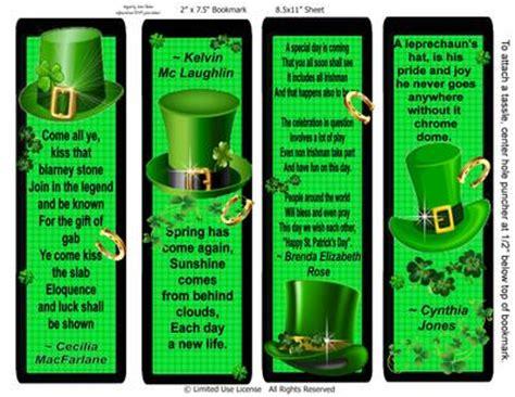 printable irish bookmarks irish poem st patrick day bookmarks cup659873 2049