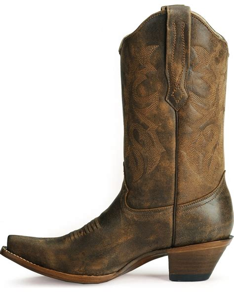 Country Boots 58 Leather corral distressed leather western boots snip toe country outfitter