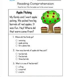 Kindergarten Questions And Answers by Reading For Kindergarten With Comprehension Questions