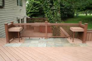 Wood Pavers For Patio by Stone Deck