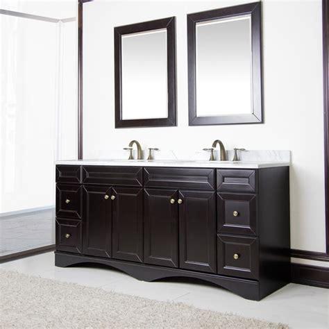 bathroom vanities 72 inch double sink corvus espresso cabinet with 72 inch italian carrera